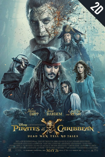 PIRATES OF THE CARIBBEAN: DEAD MAN TELLS NO TALES (PG-13) Movie Poster