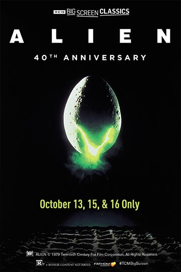 ALIEN 40TH ANNIVERSARY (R) Movie Poster
