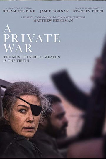 A PRIVATE WAR (R) Movie Poster