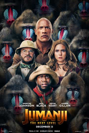 JUMANJI: THE NEXT LEVEL (PG-13) Movie Poster