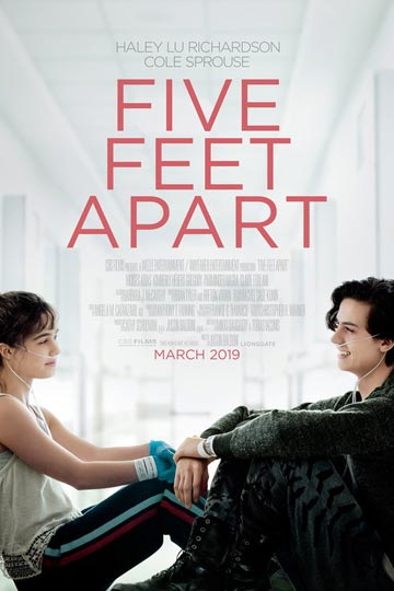 FIVE FEET APART (PG-13) Movie Poster