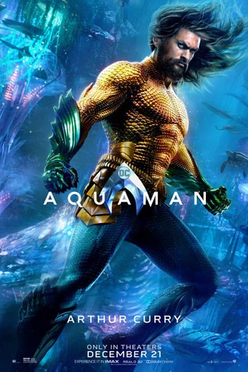 AQUAMAN (PG-13) Movie Poster