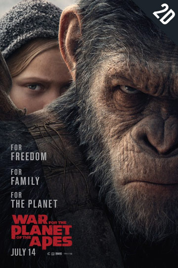 WAR FOR THE PLANET OF THE APES (PG-13) Movie Poster