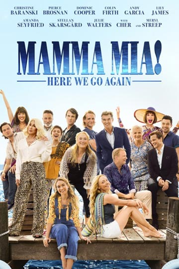 MAMMA MIA! HERE WE GO AGAIN (PG-13) Movie Poster