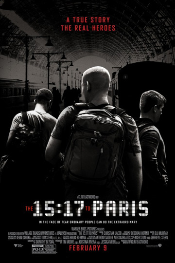 THE 15:17 TO PARIS (PG-13) Movie Poster