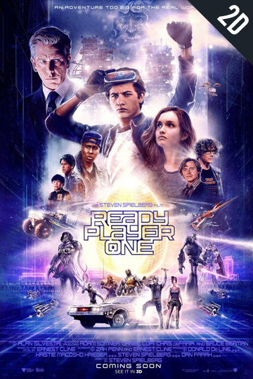 READY PLAYER ONE (PG-13) Movie Poster