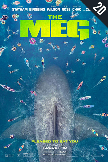 THE MEG (PG-13) Movie Poster