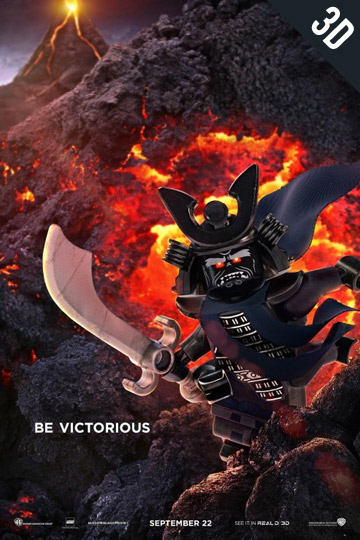 3D THE LEGO NINJAGO MOVIE (PG) Movie Poster