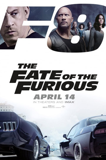 THE FATE OF THE  FURIOUS (PG-13) Movie Poster