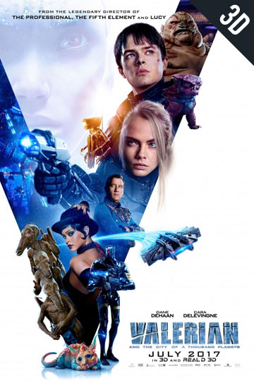 3D VALERIAN AND THE CITY OF A THOUSAND... (PG-13) Movie Poster