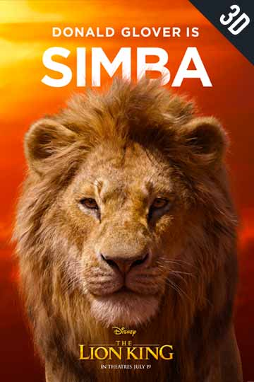 3D THE LION KING (PG) Movie Poster