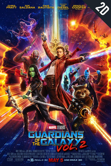 GUARDIANS OF THE GALAXY VOL. 2 (PG-13) Movie Poster