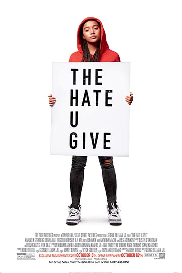 THE HATE U GIVE (PG-13) Movie Poster