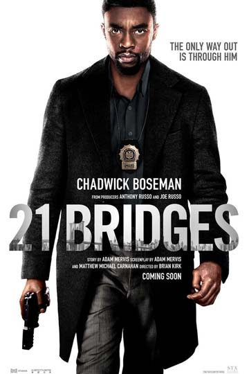 21 BRIDGES (R) Movie Poster