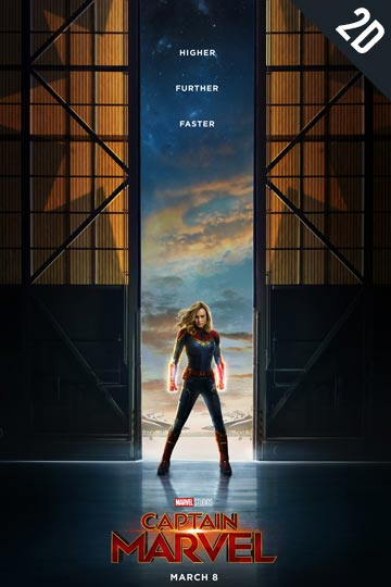 CAPTAIN MARVEL (PG-13) Movie Poster