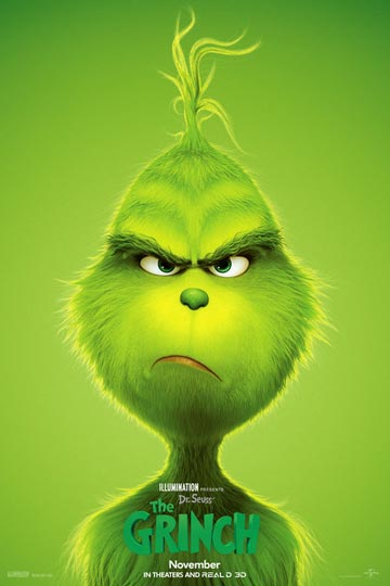 DR SEUSS' THE GRINCH (PG) Movie Poster