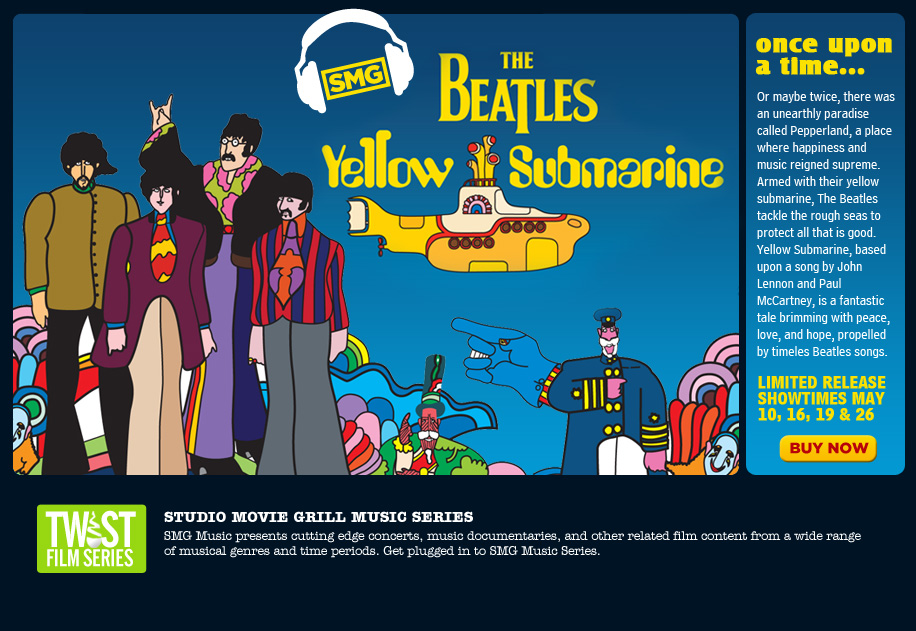 Yellow Submarine Movie Trailer Studio Movie Grill Music Series The Beatles 39 Yellow Submarine May