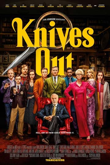 KNIVES OUT (PG-13) Movie Poster