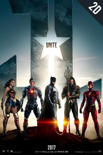 JUSTICE LEAGUE (PG-13) Movie Poster