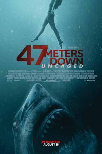 47 Meters Down: Uncaged (PG-13) Movie Poster