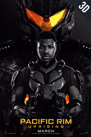 3D PACIFIC RIM UPRISING (PG-13) Movie Poster