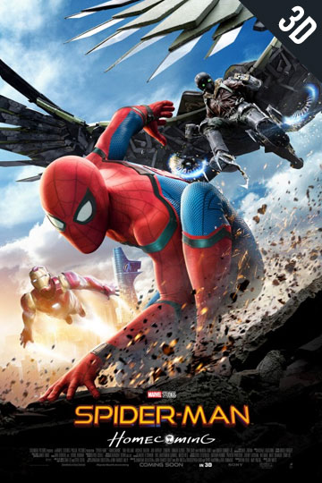3d-spiderman-homecoming Movie Poster